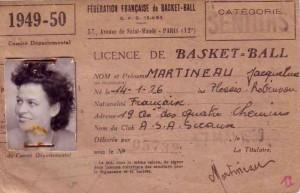 Une des premières licences féminines de l'ASAS.
